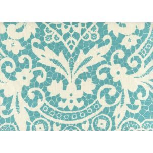 AC870-03 NEW BROMPTON Turquoise on Tint Quadrille Fabric
