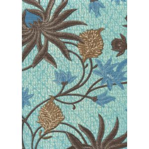 7070-01 NEW LOTUS BATIK Turquoise Browns Custom Only Quadrille Fabric