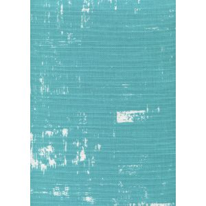 7065-07 NEW SHADOWS Turquoise on White Quadrille Fabric