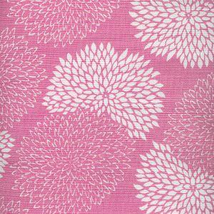 6295-07 NEW CHRYSANTHEMUM REVERSE Magenta on White Quadrille Fabric