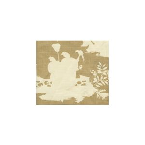 301987F PARADISE BACKGROUND Taupe on Tint Quadrille Fabric