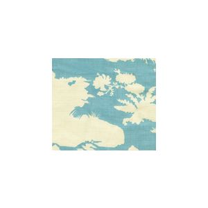 301980F PARADISE BACKGROUND Turquoise on Tint Quadrille Fabric
