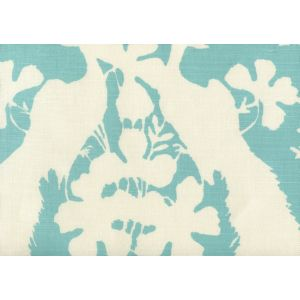 8330-01 PEACOCK BLOTCH Turquoise on Tint Quadrille Fabric