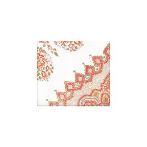 HC1490U-03W PERSEPOLIS Melon Camel Quadrille Fabric
