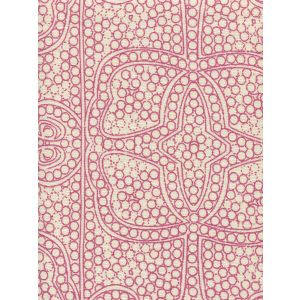 CP1000-07 PERSIA Flamingo on Taj Ecru Quadrille Fabric