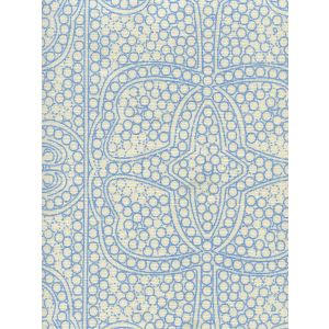 CP1000-04 PERSIA New Blue on Taj Ecru Quadrille Fabric