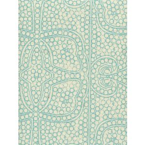 CP1000-03 PERSIA Turquoise on Taj Ecru Quadrille Fabric
