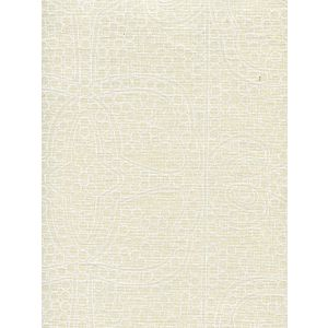 CP1000-01 PERSIA White on Taj Ecru Quadrille Fabric