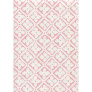 306330F-SPINK PUCCINI Soft Pink on White Linen Quadrille Fabric
