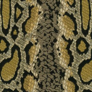 010911T PYTHONE Multi Tan with Gold Quadrille Fabric