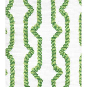 JF01010-05 REGENCY ROPES Multi Greens on White Quadrille Fabric