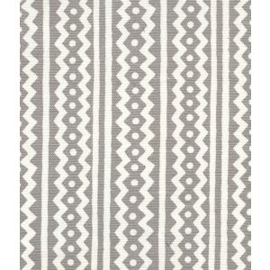 AC935-03 RIC RAC Gray On Tinted Linen Cotton Quadrille Fabric