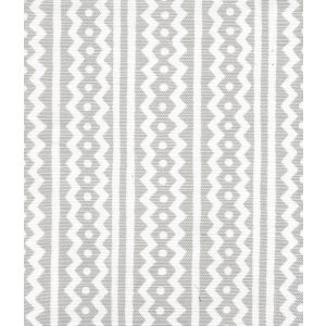 AC935WH-03 RIC RAC Pale Gray On White Linen Cotton Quadrille Fabric