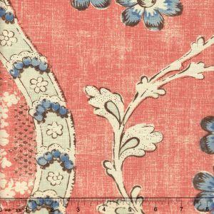 2438-01 RIVIERE ENCHANTEE Saumon Quadrille Fabric