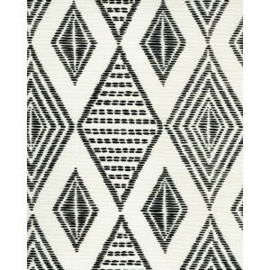 AC850-11 SAFARI EMBROIDERY Black on Tint Quadrille Fabric