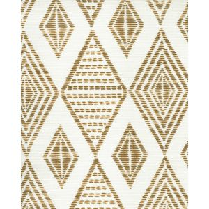 AC850-13 SAFARI EMBROIDERY Caramel on Tint Quadrille Fabric