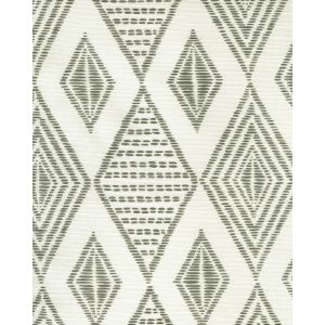 AC850-07 SAFARI EMBROIDERY Medium Gray on Tint Quadrille Fabric