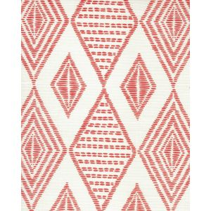 AC850-01 SAFARI EMBROIDERY Melon on Tint Quadrille Fabric