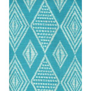 AC855-03 SAFARI Medium Turquoise on Tint Quadrille Fabric