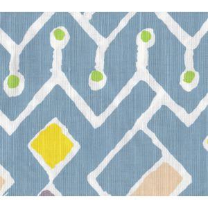 AC117-01W SAHARA MULTI COLOR Sky Peach Yellow Lime on White Quadrille Fabric