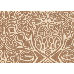 302261F SAN MICHELE Camel II on Beige Quadrille Fabric