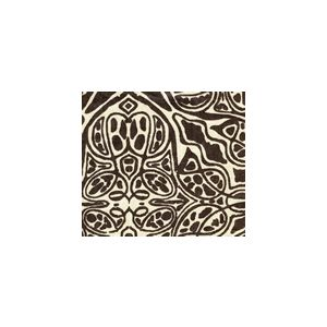 302257F SAN MICHELE Choco Brown on Beige Quadrille Fabric