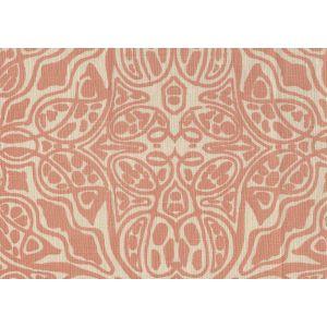 302258F SAN MICHELE Terracotta on Beige Quadrille Fabric