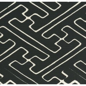 AC207-30 SAYA GATA Black on Tint Quadrille Fabric