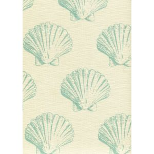 7150-03 SEASHELL Aqua on Tint Quadrille Fabric