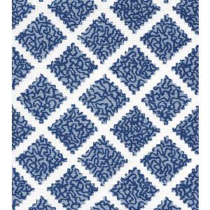 JF01000-11 SHANGHAI Navy Windsor on White Quadrille Fabric