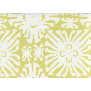 2485-11 SIGOURNEY REVERSE SMALL SCALE Chartreuse on White Quadrille Fabric