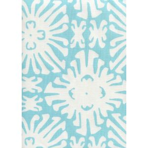 2485-01 SIGOURNEY REVERSE SMALL SCALE Turquoise on White Quadrille Fabric