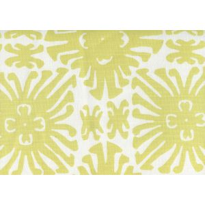 2475-11 SIGOURNEY SMALL SCALE Chartreuse on White Quadrille Fabric