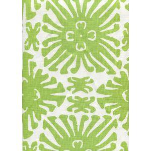 2475-02 SIGOURNEY SMALL SCALE Jungle Green on White Quadrille Fabric