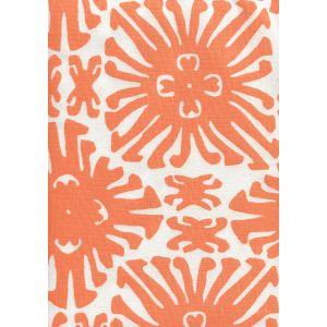 2475-04 SIGOURNEY SMALL SCALE Orange on White Quadrille Fabric
