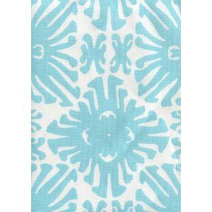 2475-01 SIGOURNEY SMALL SCALE Turquoise on White Quadrille Fabric