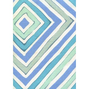 AC830-01W SILVIO Blue Gray Turquoise on Tint Quadrille Fabric
