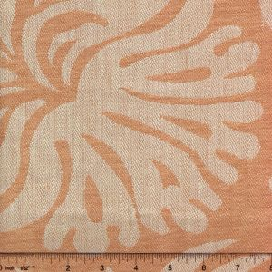 011003T SPENCER LINEN DAMASK Pale Salmon Quadrille Fabric