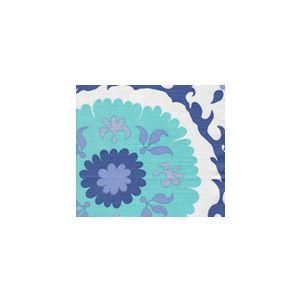 010226FSUN SUZANI Royal Blue Aqua Quadrille Fabric