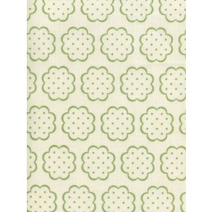 JF01060-06 SYBIL Jungle Green on Tint Quadrille Fabric