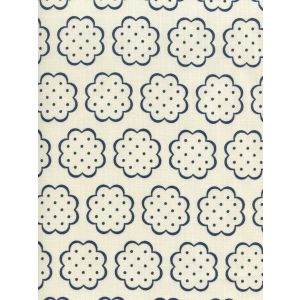 JF01060-07 SYBIL New Navy on Tint Quadrille Fabric