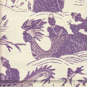 7250-03 TABLEAU II Purples Lilacs on Tint Quadrille Fabric