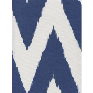 302506F-SUN TASHKENT Royal Blue on White Quadrille Fabric