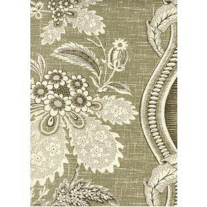 2525-02 TOILE MONTAIGUS Taupe Quadrille Fabric
