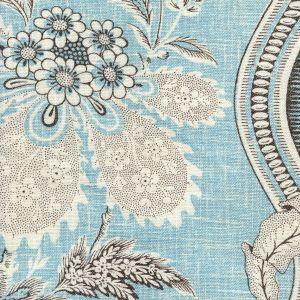 2525-08 TOILE MONTAIGUS Turquoise Quadrille Fabric