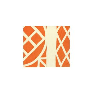 6025CU-05T TRELLIS BACKGROUND Orange on Tint Quadrille Fabric