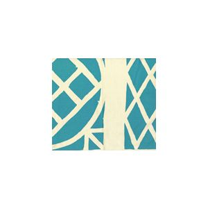 6025CU-07T TRELLIS BACKGROUND Turquoise on Tint Quadrille Fabric