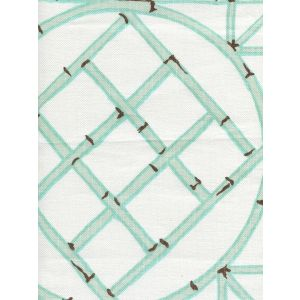 6020-03 LYFORD TRELLIS Aqua Brown Quadrille Fabric