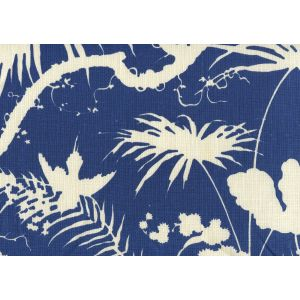 306235F TROPIQUE BLOTCH ONE COLOR New Navy on Tint Quadrille Fabric