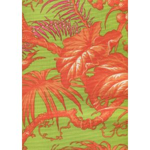 306277FLC TROPIQUE MULTI BLOTCH Multi Orange Pink Green on cotton/linen Quadrille Fabric